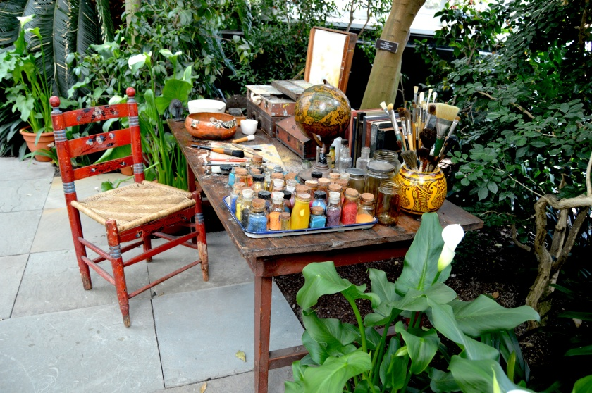a recreation of Frida's garden studio.